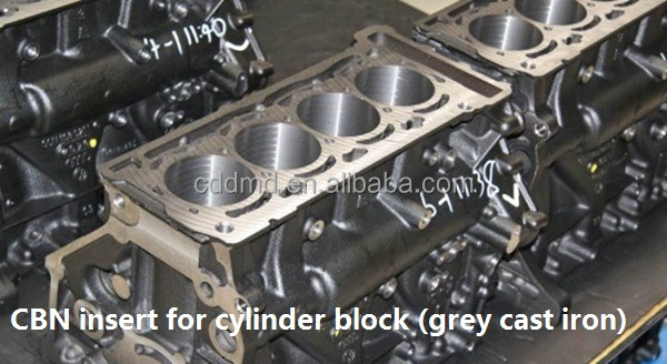 PCBN turning inserts finish automobile brake disc CBN insert for grey iron