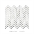 2017 Design White Chevron Marble Stone Mosaic For Home Decoration