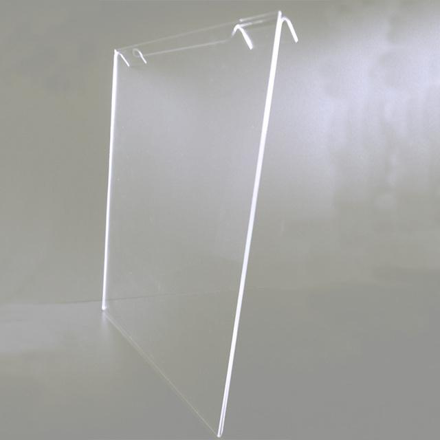 Clear Acrylic Slat Wall Sign Holder Frame, Paper Insert Holder