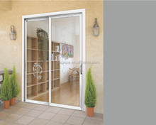 buy hotel aluminum frame double tempered glass sliding door on alibaba China factory
