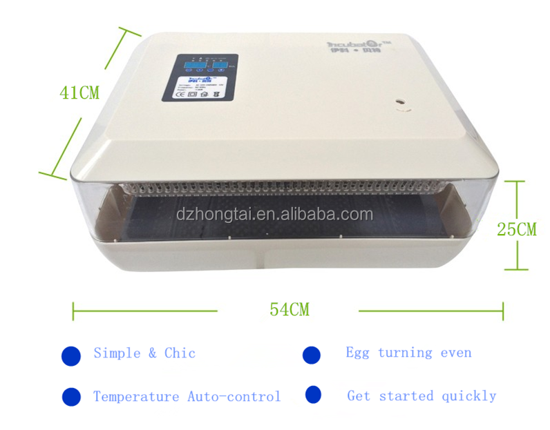 double-power supply newly design 60 egg mini incubator/digital chicken egg incubator hatcher