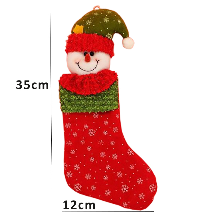 Promotional christmas stocking for christmas decoration