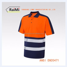 Various Color Guaranteed Quality safety uniform polo t shirt