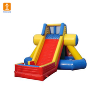 Inflatable jumping castle with lovely cartoon and inflatable bouncer