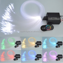 16W RGBW LED Fiber optic light Star Ceiling Kit Lights 150pcs 0.75mm 2M optical fiber lighting+RF 28key Remote engine