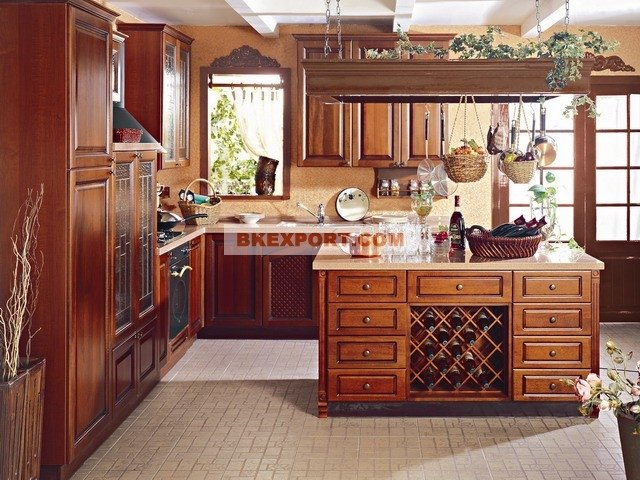 cherry wood kitchen cabinets