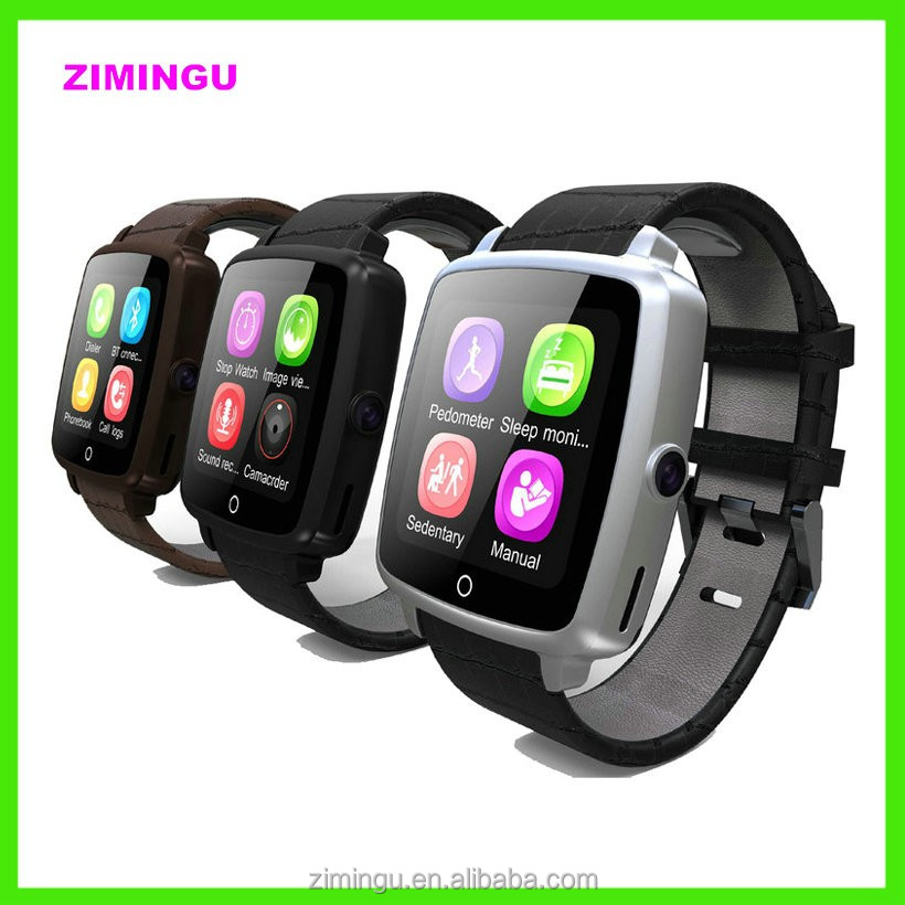 2017 Fashion SmartWatch U11C Leather Strap Smart Watch Support Micro SIM Card Bluetooth Connectivity for Apple Android