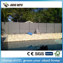 Easy installing new cheap WPC wooden fence slats