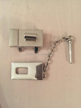 Turn lock with chain lock/padlock set in silver, decorative push lock,turnlock hardware set