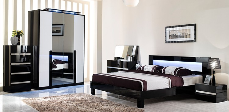 Modern foshan home wooden bedroom set furniture china - Idee deco chambre homme ...