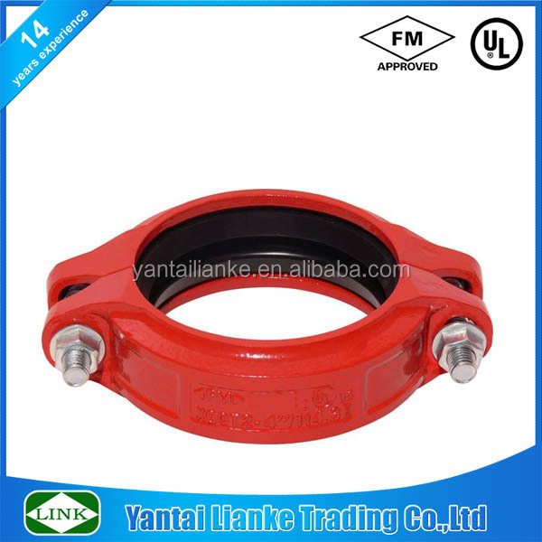FM/UL ductile iron flexible mechanical joint couplings