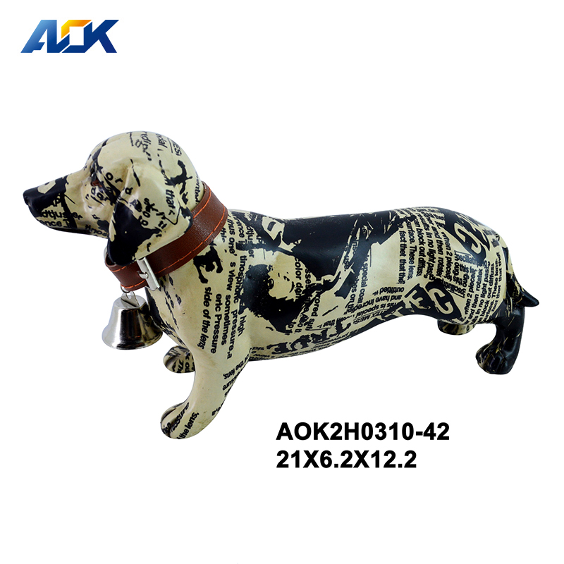 Creative Personality Holiday Gift Craft Dog Statue Resin Decoration