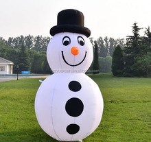 Good price high quality Christmas decorated inflatable snowmen with LED lighting