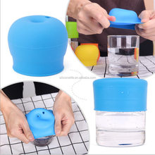 Reusable Anti Overflow Silicone Cup Lid Dust Proof Spillproof Silicone Sippy Lids For Baby Drinking Converts Any Cup