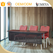 High quality modern design adjustable aluminum folding table meeting table design