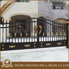 Indian house latest main gate designs & Automatic Indian House /Beautiful entrance metal courtyard gate designs/Powder Coated