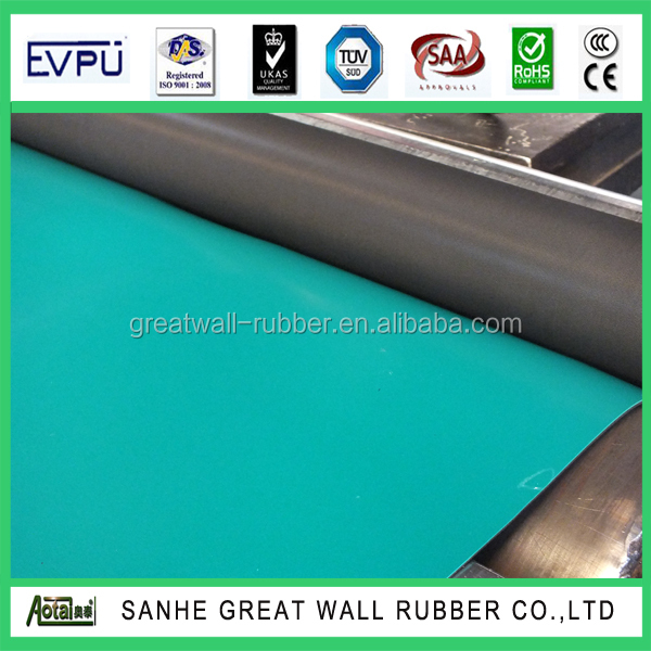 Great Wall 2mmx1.2mx10m anti-static rubber sheet roll with good elastomer rubber sheet