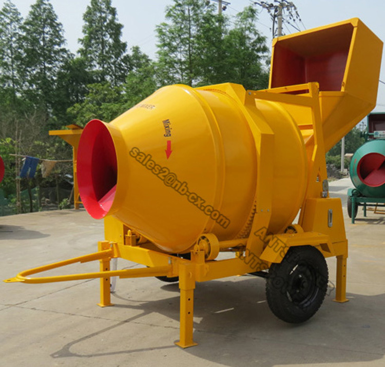 JZC500-DH Cement Mixer ( 3 Bags Cement, 22HP Engine, Hydraulic Tipping)