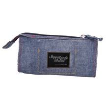 Durable Large Capacity Teenagers Zipper Washable Jeans Pencil Case
