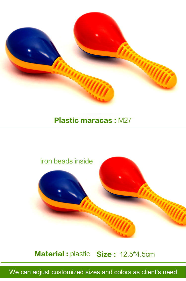 inflatable musical instruments mini plastic maracas Orff baby music toys