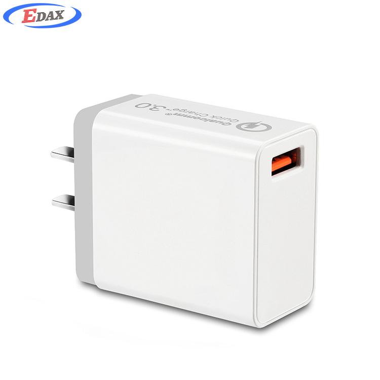 Produits populaires 2019 18W Charge Rapide QC 3.0 Rapide Chargeur De Téléphone Portable NOUS Prise Murale USB Chargeur Adaptateur - ANKUX Tech Co., Ltd