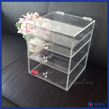 Arcylic lucite clear cube makeup organizer/mac makeup organizer/5 drawer acrylic makeup organizer