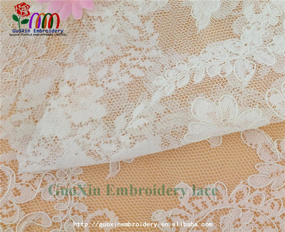 high quality designer bridal sarees image lace embroidery lace fabric with cording