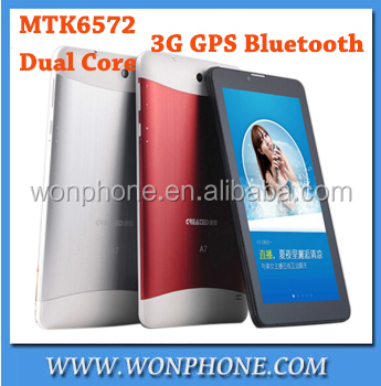 7inch Capacitive screen 3G phone call Tablet PC MTK6572 Dual Core Android 4.2 512M 4GB GSM WCDMA two Camera/SIM card