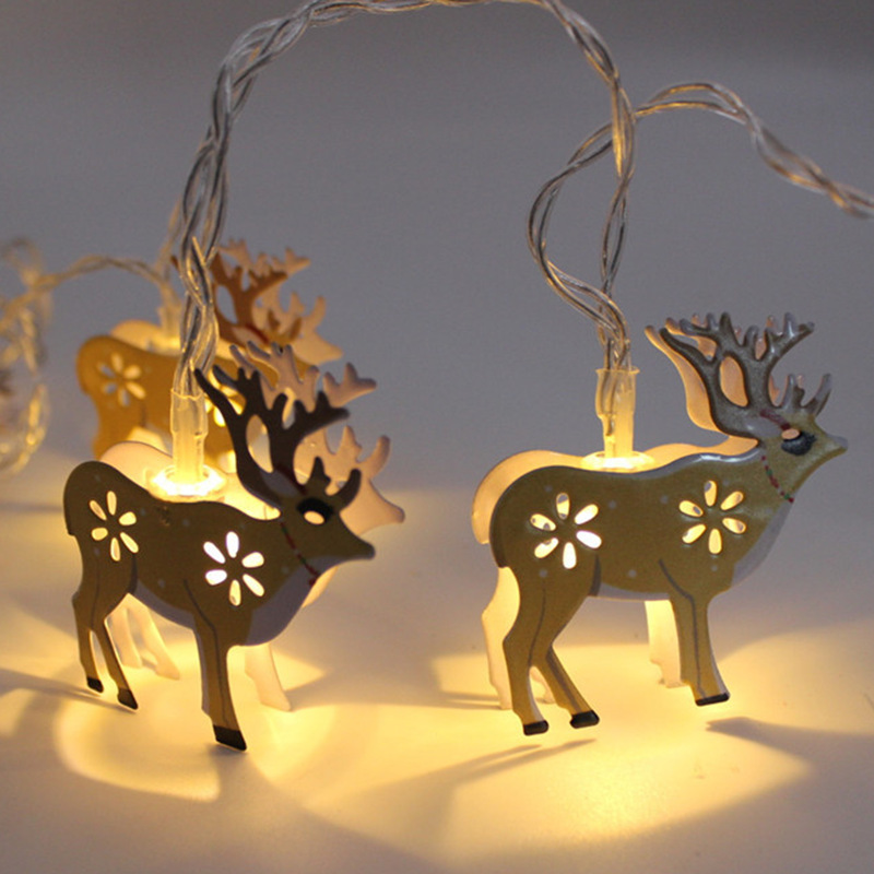 2M Party Milu deerString Lights Battery Powered 10 LED Christmas Decoration Wrought iron led Light