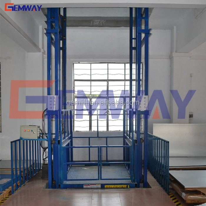 Customized hydraulic electric vertical material goods lift