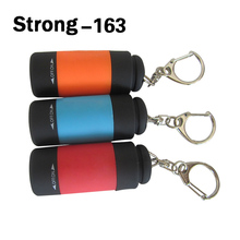 Hot sales promotion USB mini single led light pocket torch with key ring