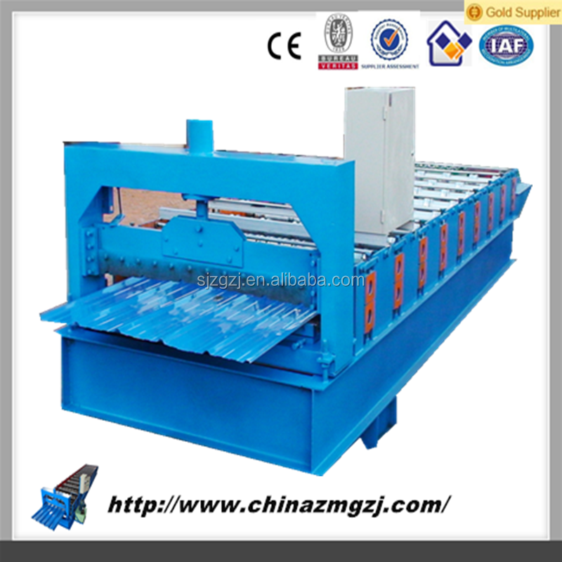 corrugated roll forming machine glazed roof tile roll forming machine/metal roof making mchine Chinese manufacture