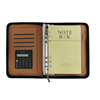 PU Cover A5 Notebook Spiral Bound Loose-leaf Business Notepad Travel Journal Leather Zipper Binder with Calculator
