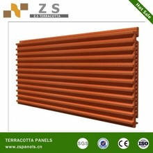 dry wall hanging customized cladding ventilated hollow structure terracotta panel curtain facade for new renew facade system