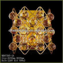 Golden ornate crystal wall, the hotel hallway wall decor,