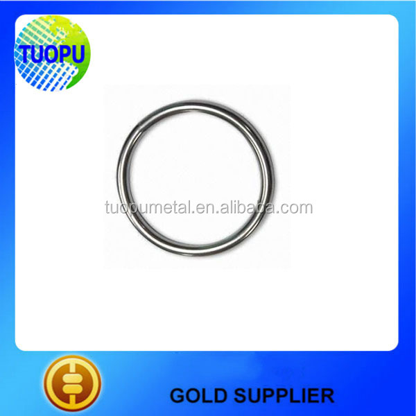 Rigging Hardware Welded Round Ring, Stainless Steel Round Ring, metal O ring buckles
