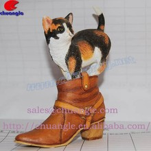 Resin Animal Souvenir, Poly Cat Handicraft, Handmade Resinic Animal Statue