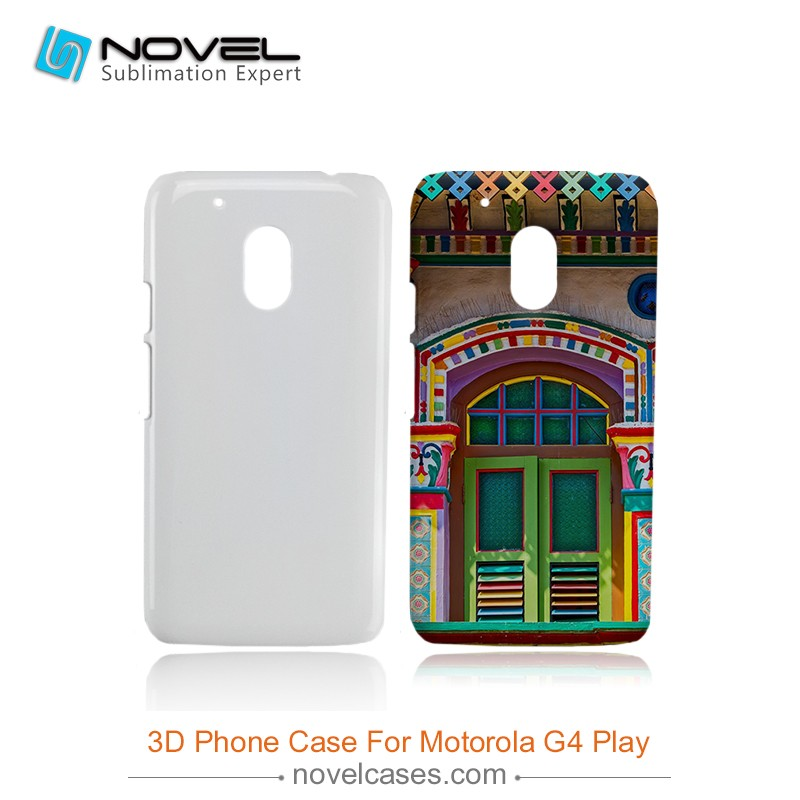 Hot Sale 3D Sublimation Phone Case Cover for Motorola G4 Play, DIY Phone Case Cover