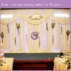 k8842 2016 kaiqi China wholesale pipe and drape wedding decoration stage backdrops white