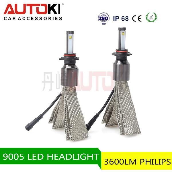 Wholesale One pair 6000K-7000K 9005 headlight DC 12V 60W White Car Fog Headlight 9005 60w 12v led