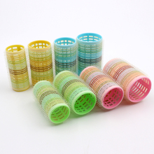 OEM colorful multi-sizes hair roller durable plastic curler hair rollers