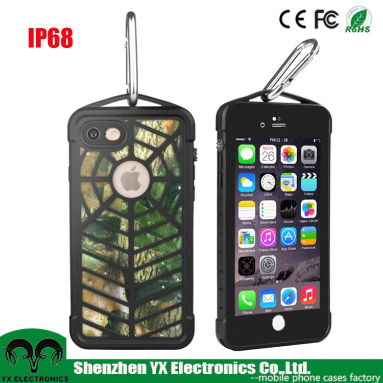 TPU PC Military IP68 underwater shockproof cellphone cover for iphone 6 7 waterproof case