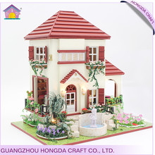 Good quality build a model house kit,scale model house kits,miniature house garden