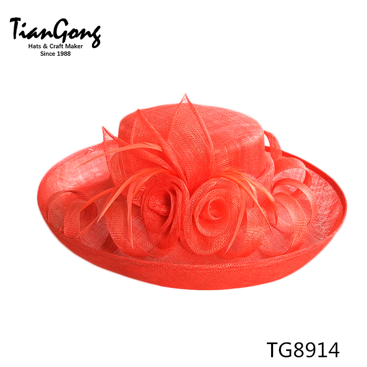 Factory Customized Cheap China Supplier Wholesale Church Hats For Women