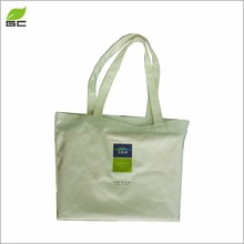 Fashionable & recyclable shopping natural cotton canvas tote bag