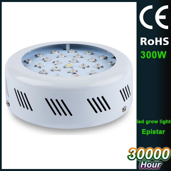 led grow light UFO type AC85-265V double chip 300W plant flowering lights