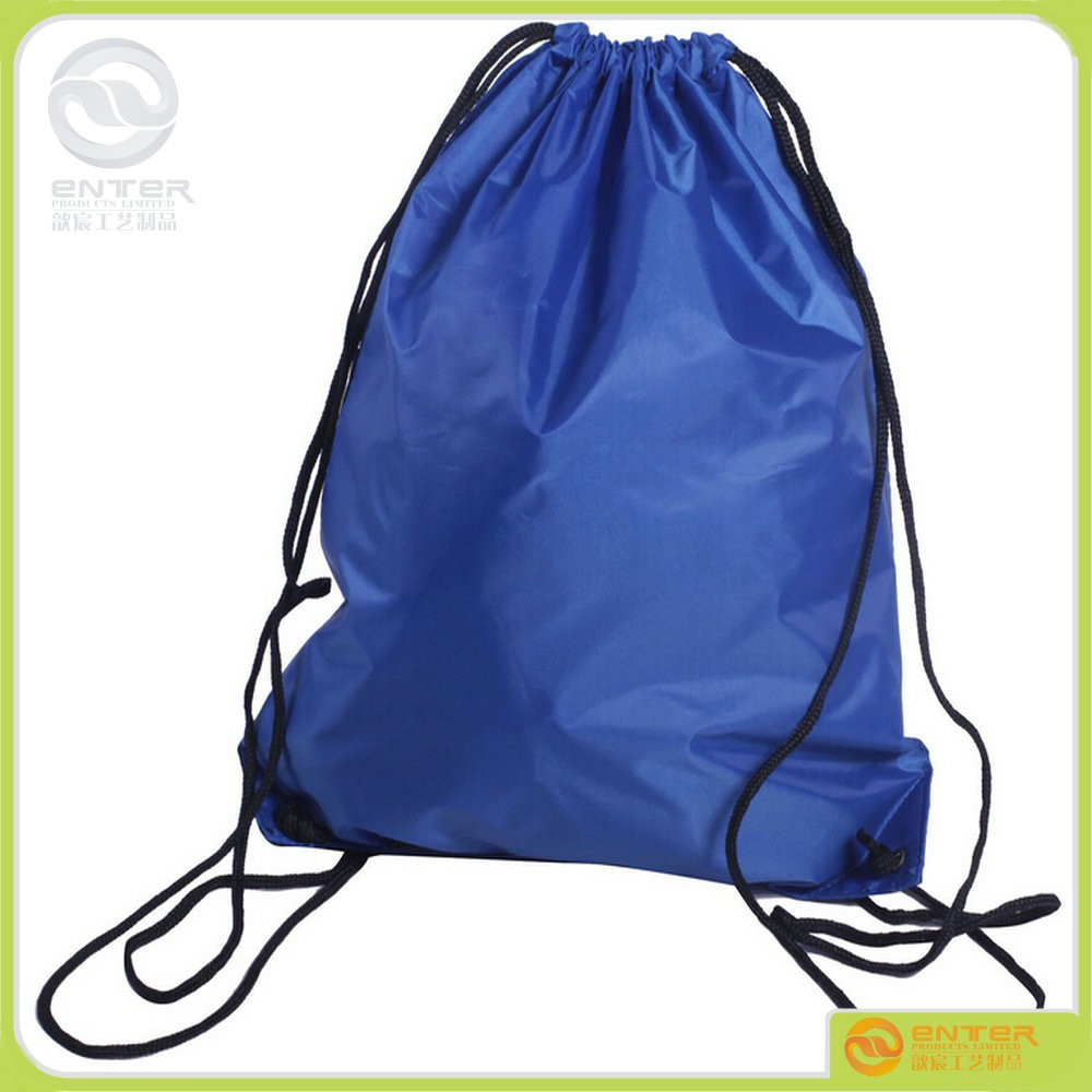 Factory selling Nylon Drawstring Bag Backpack Cinch Sack Tote Gym Bag Sport Pack