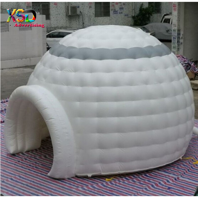 High quality 6m diameter air dome tent / foldable inflatable igloo tent foroutdoor used