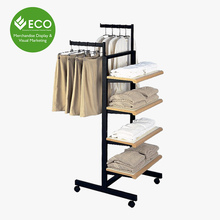 Hot Sale Wood Display Stand Case Retail Clothing Display Rack For Promotion