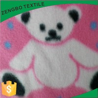 Cheap Cute Bear Polar Fleece Fabric for Home Textile children Blanket or bed sheet